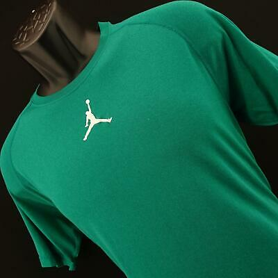 Mens Nike Air Jordan Dri FIT Shirt Size Large Green Performance Tennis Gym Sport