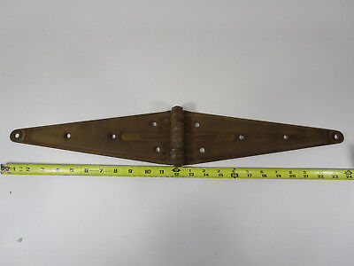 "Large 24"" antique Stanley sweetheart barn door hinge vintage rustic iron"