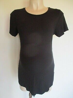 Next Maternity Black T-Shirt Top Size 12