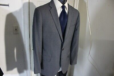 J Crew Ludlow Traveler Size 40R Gray 2 Button Wool Sportcoat