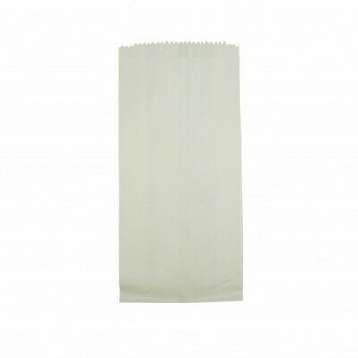 NEW White Paper Satchel Bags - 115mm - 50mm gusset - PACKET(500) - Kent Paper