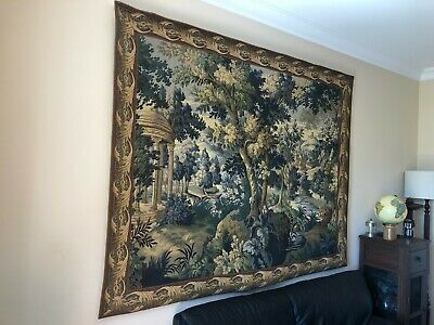 Tapestry authentic french woollen woven 2.1 m wide X 1.57 high