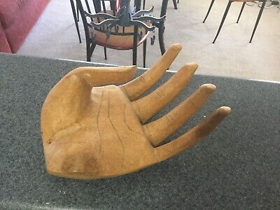 Vintage Wooden Hand Carved  Hand Wrist Fingers Statue Hand Figurine From 80's