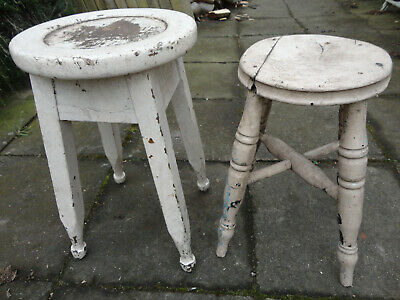 2 Old wooden Stools