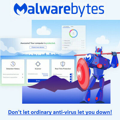 Malwarebytes PREMIUM ✅ 1 DEVICE 4 YEAR 🔑 Antivirus Key Retail License ✅