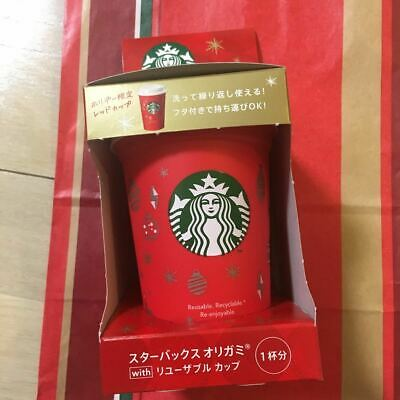 Number 5 Starbucks No Origami Reusable Cup Holiday 2018 Only Christmas Red