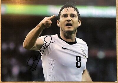 "FRANK LAMPARD 12"" x 8"" England Football Hand Signed Autograph photograph & COA"