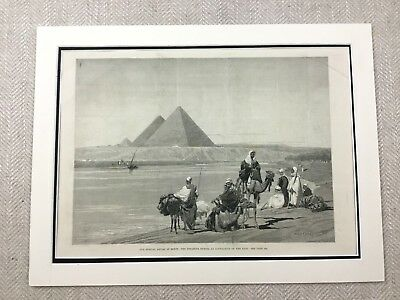 1882 The Great Pyramids Egypt Egyptian Landscape Original Antique Print