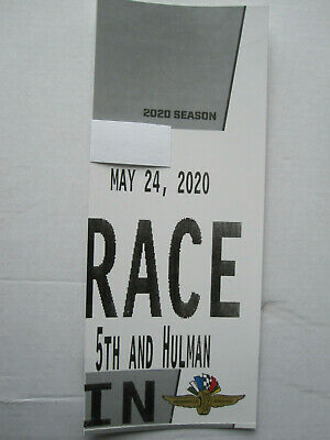 (1) 5th & Hulman Race Day Parking Pass Indianapolis Indy 500  2020 Sold Out Lot
