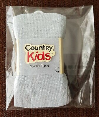 The Little White Company/Country Kids Silver Sparkly Tights (1-3yrs)