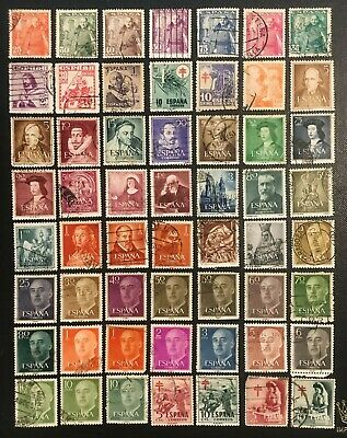 Spain Collection Of Old Mostly Used Stamps, Lot 3, 3 Pics