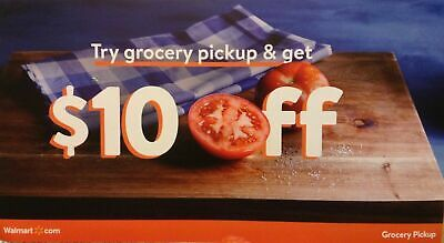 WALMART Grocery Pickup $10 off YOUR FIRST ONLINE ORDER - GREAT TO AVOID CROWD!