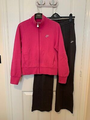 Vgc Girls/ Ladies Pink/ Gray Nike Tracksuit Size L Age 12/13yrs Or Size 8-10