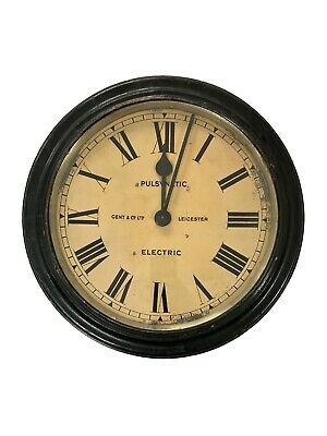 Vintage Antique Gents Gent Of Leicester Industrial Railway Factory Wall Clock