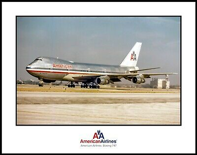 American Airlines Boeing 747 11x14 Photograph (M099LGSP11X14)