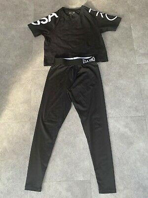 USA Pro matching T-shirt and leggings, size 9-10 years