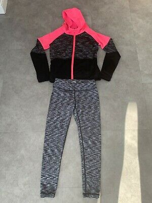 Girls hoodie and matching leggings, size 7-8 & 9-10