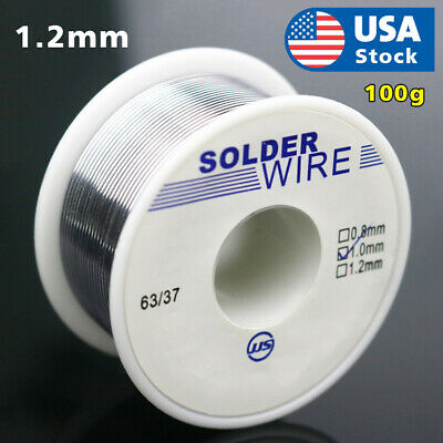 63/37 Tin Lead Rosin Core Flux Solder Wire for Electrical Solderding 1.2mm 100g