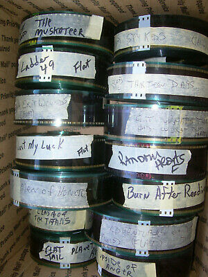 LOT OF 14 used  35mm FILM Preview movie Trailer FLAT see list in description B21