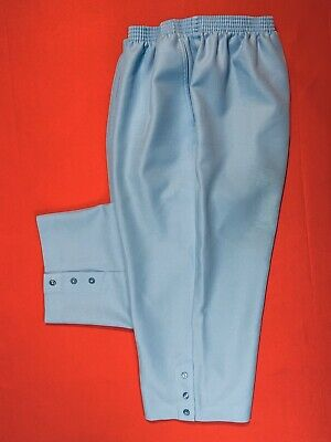 🌷ALFRED  DUNNER . Pull On Polyester Capri Crop Pants . Blue . Plus Size 18W🌷