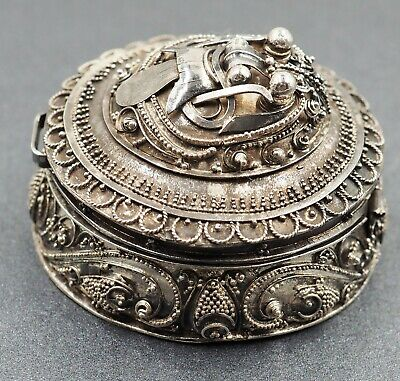 Vintage Sterling Silver Pill/Trinket Box Womens/Girls Collectible