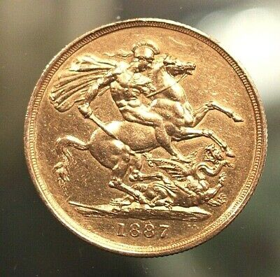 1887 Queen Victoria Jubilee Gold Double Sovereign £2. Uncirculated Condition.