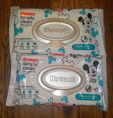 Huggies Baby Wipes Simply Clean Fresh Scent Wipes Baby 24 Wipes 2 Packs