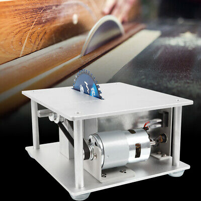 96-120W Mini Hobby Table Saw Woodworking DIY Crafts Bench Cutting Tool 3 blades
