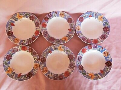 6- Gibson Housewares flower bowls soup cereal