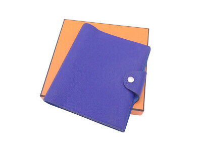 Auth HERMES Ulysee Neo PM Note/Agenda Cover Blue Electrique Togo - e44357c