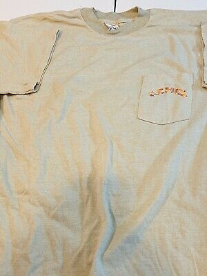 Vintage 1992 JOE CAMEL Camouflage pocket T SHIRT XL cigarettes rare
