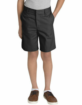 NWT Dickies Boys' Classic Black Fit Flat Front Shorts