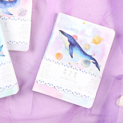 """Universe Whale"" 1pc Cute Monthly Daily Planner Agenda Diary Journal Free Note"