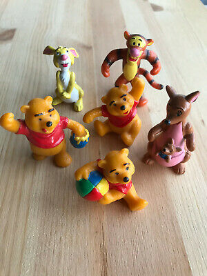 Rare Official Bullyland Bully Disney Winnie The Pooh Figures Kanga Tigger Rabbit