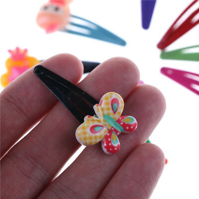 10Pcs Cute Baby Kid Children Girls Cartoon Hair Pin Girl Clips Hairpin Bow-JT
