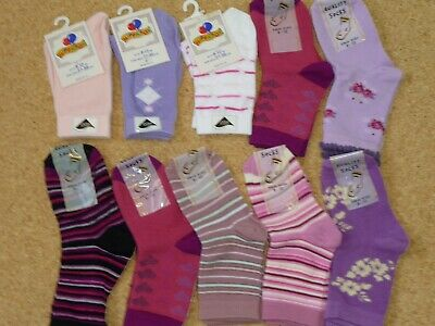 10 Pairs Cheap Asstd Girls Socks . Size 9-12