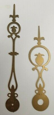 A Pair Of Pineapple Style Brass Longcase/Grandfather Clock Hands.