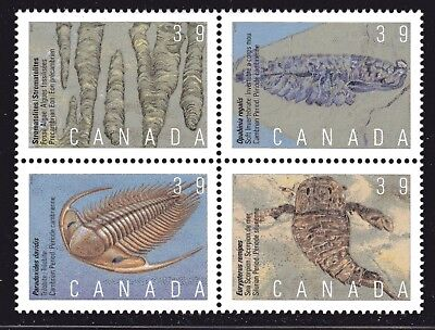 1990 Canada SC# 1282a Prehistoric Life - Block of 4 Stamps Lot# A49 M-NH