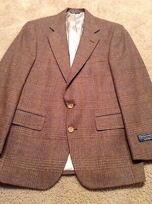 polo university club Sportcoat SZ 40R 2Button BrownisPlaid Mulitcolor 1vent NWT