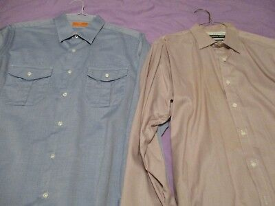 Lot Lorenzo Uomo Andrew Marc men's button front collared long sleeve shirt Large