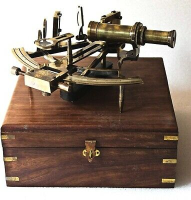 Nautical Marine Heavy German Working Model Ship, Sextant Sea Collectible Antique