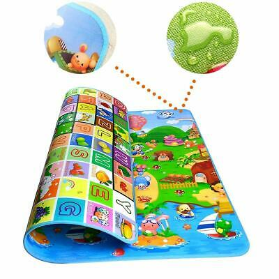 Double Sided Water Proof Baby Mat Carpet Baby Crawl Play Large Size 6 X 4 ft UK