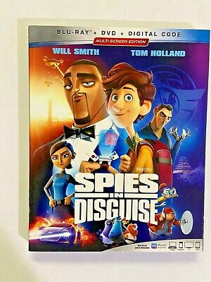 Spies in Disguise (Blu-ray + DVD + Digital; 2020) NEW w/ Slipcover