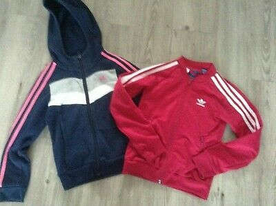 Adidas Girls Small Sportswear Bundle 7-8Yrs Hoody Jacket ( C6 )