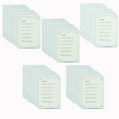 Bulk buy 50 pack A5 Single Clear Card holders for Cafe Menu