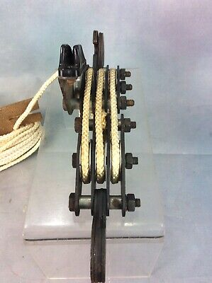Vintage Pulley, Clothes Airer / Block & Tackle Free Uk Delivery