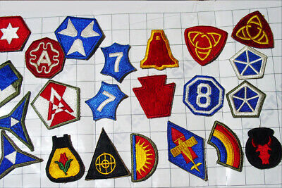 LOT 20x WW2 shapes patch WWII USA army PATCHES mixed special insignia collection