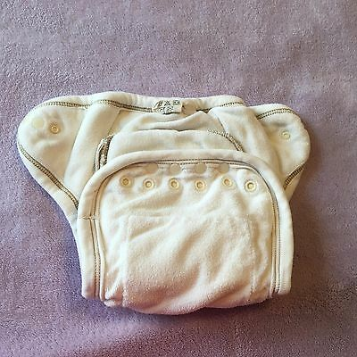 Mother-ease One Size fitted diaper w snap-in liner (organic cotton)