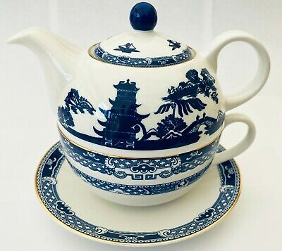 Ringtons Willow Fine China Teapot Nest with Cup + Saucer Oriental Set