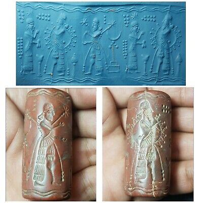 Very old  neareastern sasanian king jusper stone cylinderseal bead